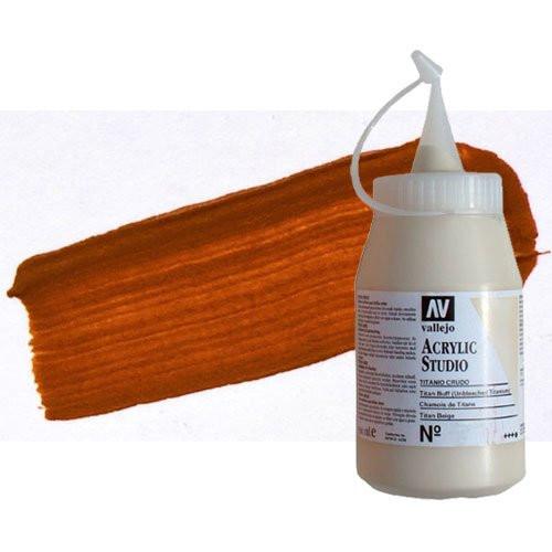 Acrílico Vallejo Studio n. 9 color Naranja Óxido de hierro (500 ml)