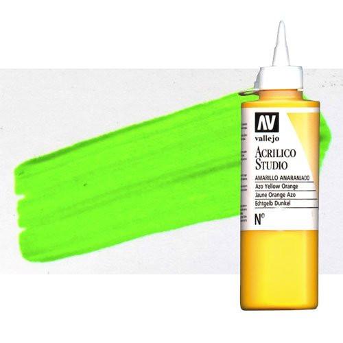 Acrílico Vallejo Studio n. 937 color verde fluorescente (200 ml)