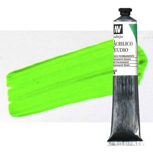 Acrílico Vallejo Studio n. 937 color verde fluorescente (58 ml)