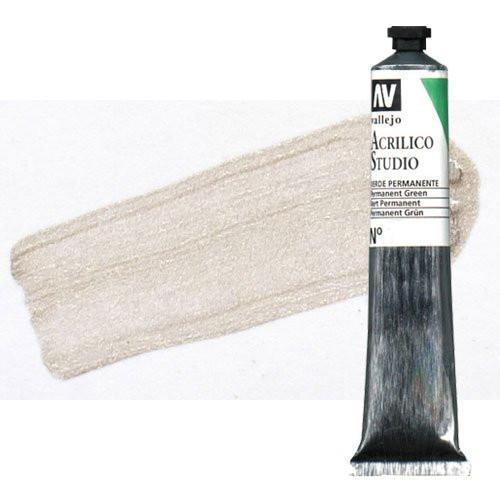 Acrílico Vallejo Studio n. 939 color plata (58 ml)