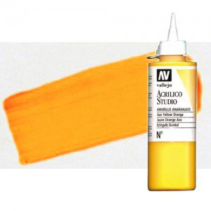 Acrílico Vallejo Studio n. 931 color amarillo dorado fluorescente (200 ml)