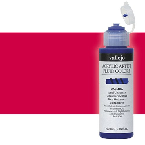 Acrílico Fluido Vallejo 402, naftol carmín, 100 ml.