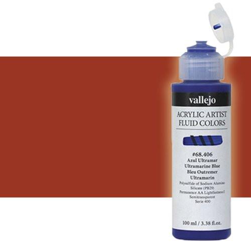 Acrílico Fluido Vallejo 425, transóxido rojo, 100 ml.