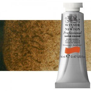 Acuarela Artist Winsor & Newton color sombra tostada 076 (14 ml) S1