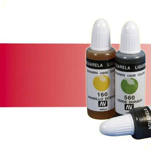 Acuarela líquida Vallejo n. 230 color rojo intenso (32 ml)