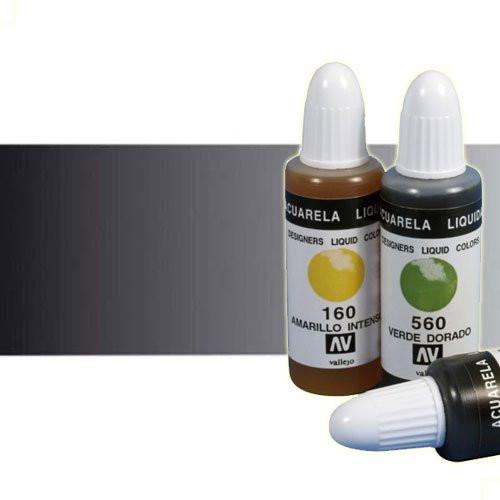 Acuarela líquida Vallejo n. 710 color negro (32 ml)