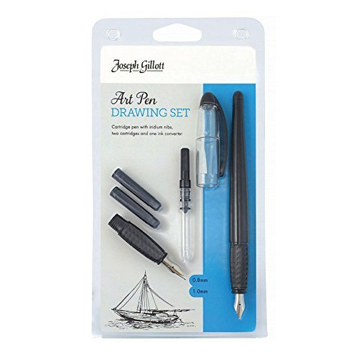 William Mitchell set dibujo plumilla de artista (2 plumillas con cartucho)