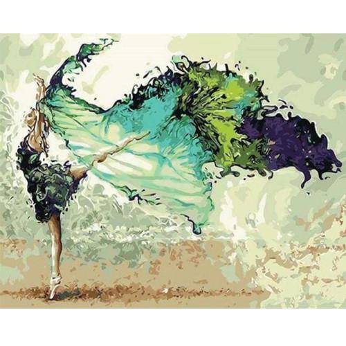 Pintar por números kit cuadro 'Bailarina Moderna', 40x50cm, Figured'Art