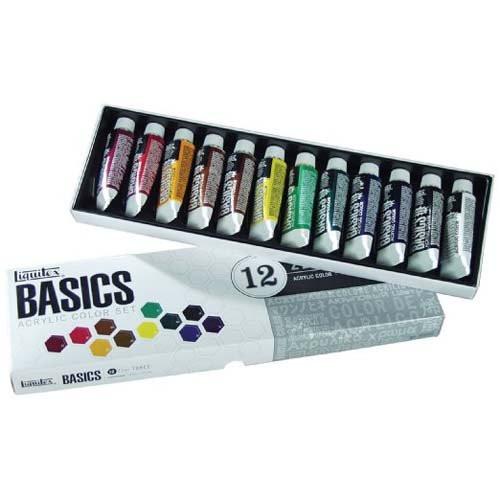 Estuche con 12 colores acrílicos Liquitex Basics (22 ml)