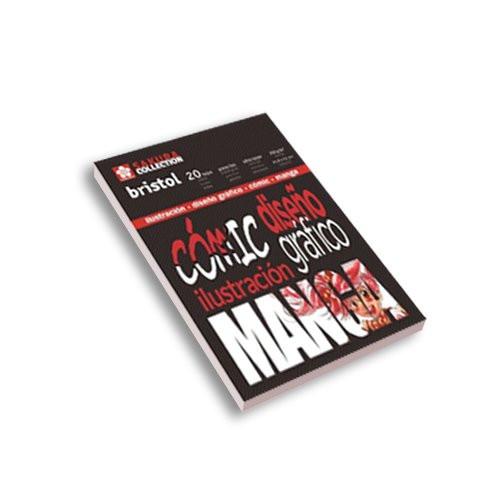Block rotulador Manga, 21x29.7 cm, 20 h, 250 gr.