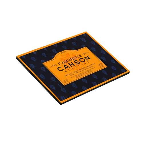 Block Acuarela encol. 4L. Canson Héritage, 20h., 300 gr., 18x26 cm., grano fino