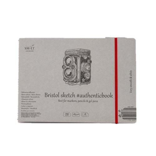 Bloc dibujo Bristol con goma, 18 hojas, 185 gr., 245x176 mm., SM.LT