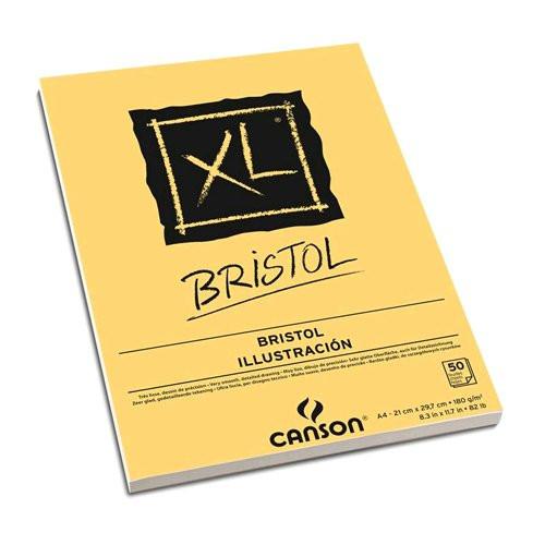 Block XL Bristol Ilustracion Canson, 50 hojas, 180 gr., A4 *