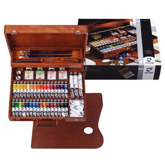 Caja de madera Superior óleo Van Gogh