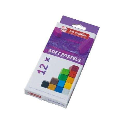Caja pastel seco barra suave 12 colores Art Creation