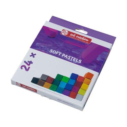 Caja pastel seco barra suave 24 colores Art Creation