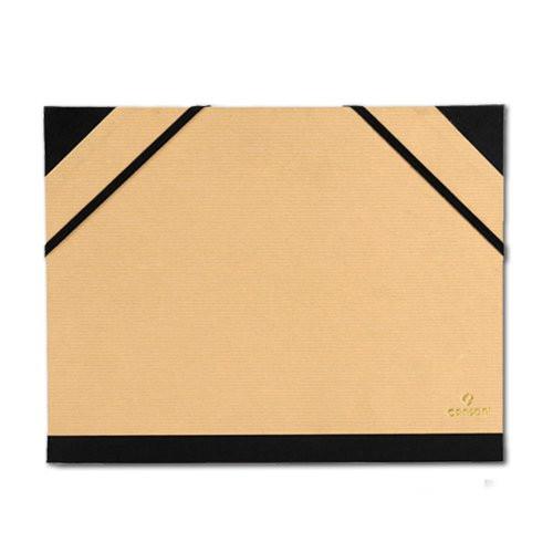 Carpeta dibujo con gomas Canson, 52x72, KRAFT