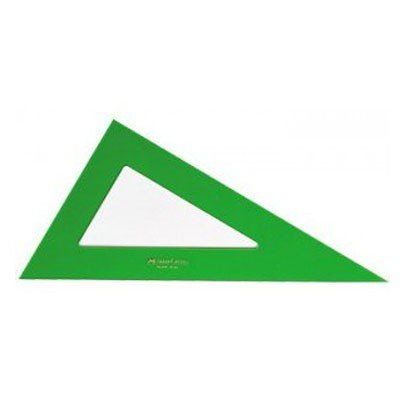 Cartabon NO GRADUADO - CANTO RECTO, 32 cm. verde Faber Castell