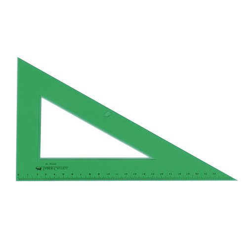 Cartabon GRADUADO - CANTO BISELADO, 32 cm. verde Faber Castell