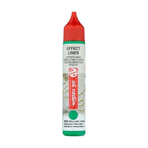 Delineador Efecto Verde Brillante 6003, 28 ml. ArtCreation