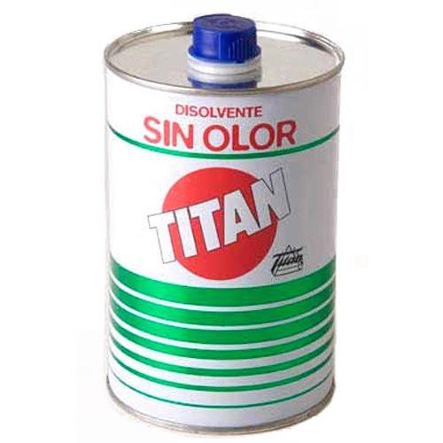 Disolvente sin olor Titan, 1000 ml.