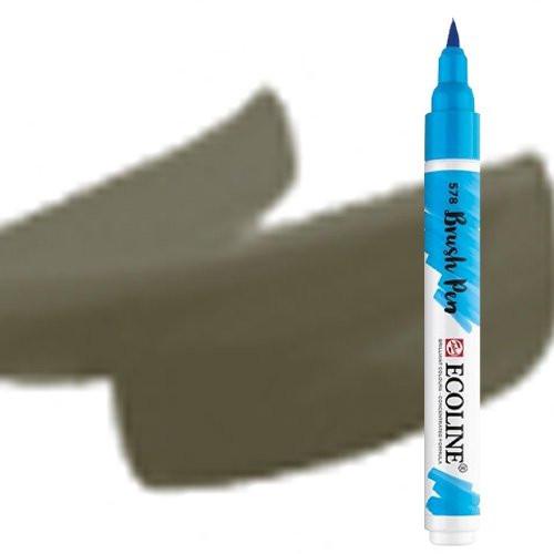 Rotulador Acuarela Ecoline Brush Pen Gris Cálido