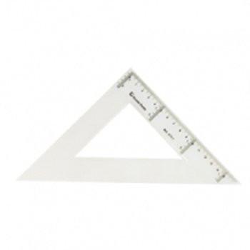 Escuadra 30 cm. transparente *