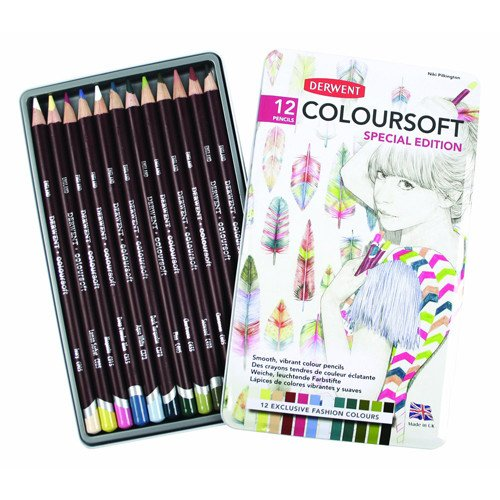 Estuche de 12 lápices Fashion Colours Derwent *