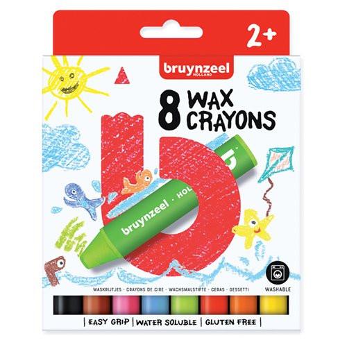 Estuche 8 pasteles Crayon Bruynzeel