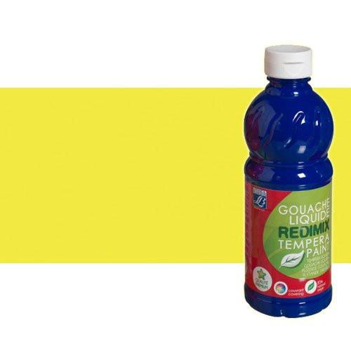 Gouache liquido Amarillo Fluorescente Lefranc, 500 ml.