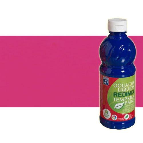 Gouache liquido Rosa Fluorescente Lefranc, 500 ml.