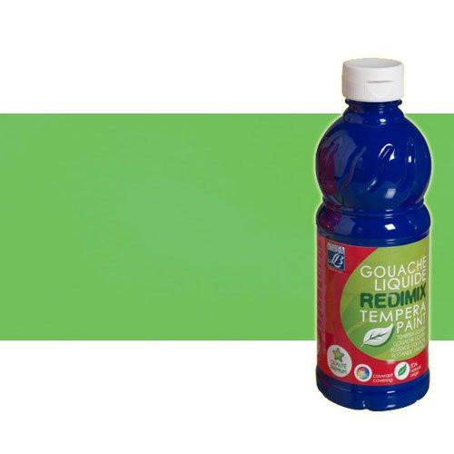 Gouache liquido Verde Fluorescente Lefranc, 500 ml.