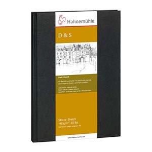 Libro de Bosquejo D&S tapa negra, 140gr, A5 R, 80 h