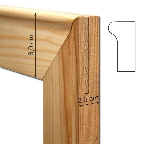 Liston de madera de 35 cm. (grosor 2 cm.) para bastidor