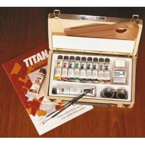 Caja de madera con 10 colores óleo Titan extra fino *