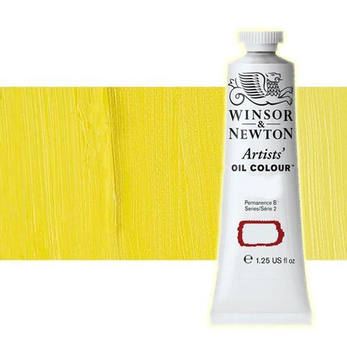 Óleo Winsor & Newton Artists color amarillo cadmio limón (37 ml)
