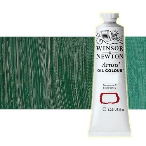 Óleo Winsor & Newton Artists color verde cromo oscuro (37 ml)