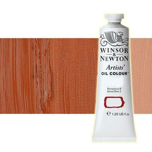 Óleo Winsor & Newton Artists color ocre rojo transparente (37 ml)