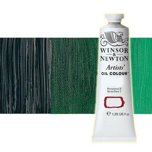 Óleo Winsor & Newton Artists color verde Winsor tono amarillo (37 ml)