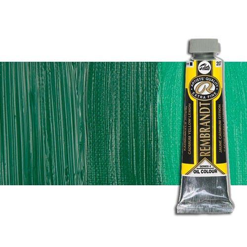Óleo Rembrandt color Verde Permanente Oscuro 619 (40 ml.)