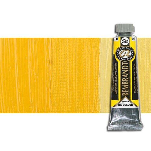 Óleo Rembrandt color Amarillo Permanente Medio 284 (40 ml.)