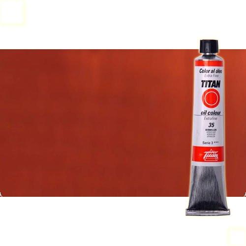 Óleo Titan extra fino color rojo inglés claro (60 ml)
