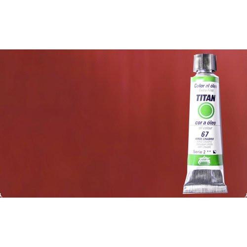 Óleo Titan extra fino color rojo inglés oscuro (20 ml)