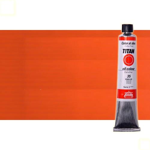 Óleo Titan extra fino color laca geranio (60 ml)