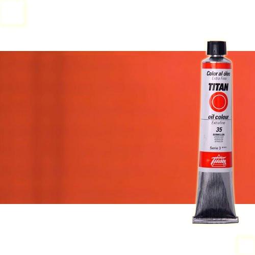Óleo Titan extra fino color rojo Titan oscuro (60 ml)