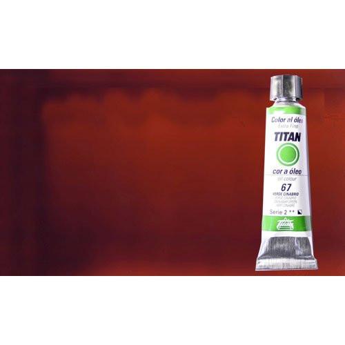 Óleo Titan extra fino color carmín garanza sólido oscuro (20 ml)