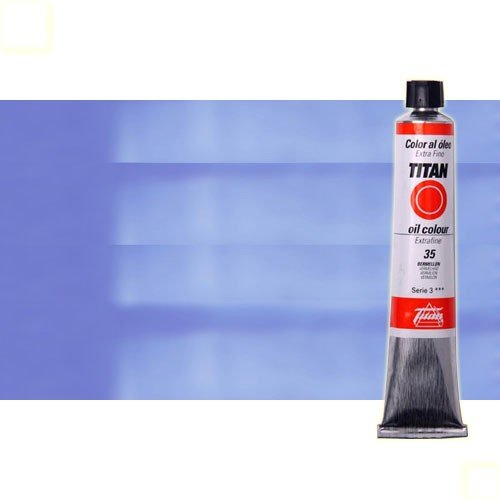 Óleo Titan extra fino color azul real (60 ml)