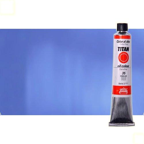 Óleo Titan extra fino color azul cian (60 ml)