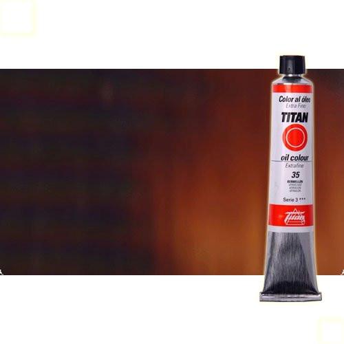 Óleo Titan extra fino color tierra sombra tostada (60 ml)