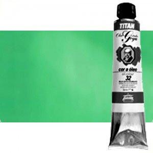 Óleo Titan Goya color verde compuesto, 200 ml.